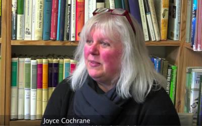 Joyce Cochrane, partner in the Old Bank Bookshop
